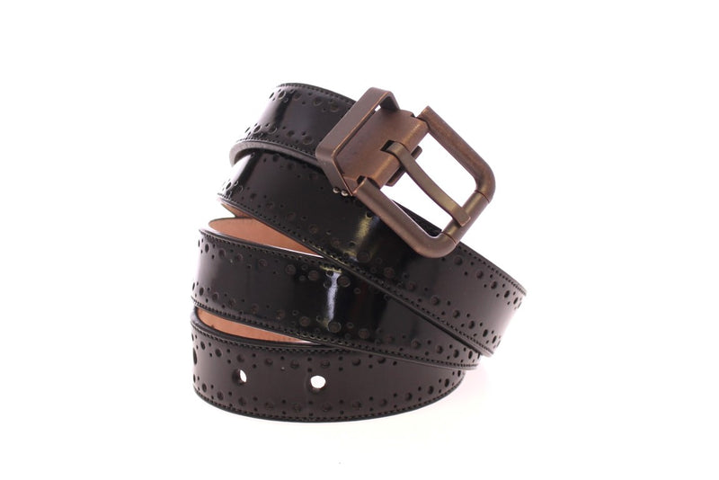 Dolce & Gabbana - Black Leather Logo Belt