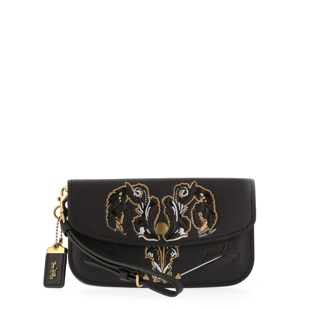 Coach - 37370 - Tattoo in Black Leather Clutch Bag