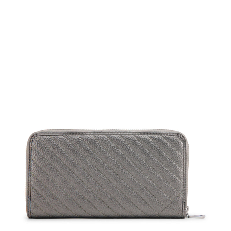 Love Moschino - Wallet - Grey Quilted with Heart & Circle