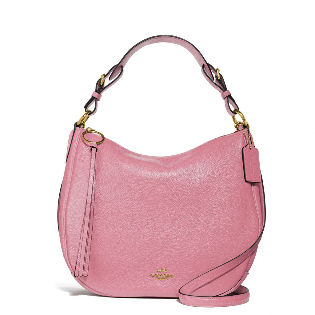 Coach - 35593 - Sutton Hobo Pink Leather Shoulder Bag