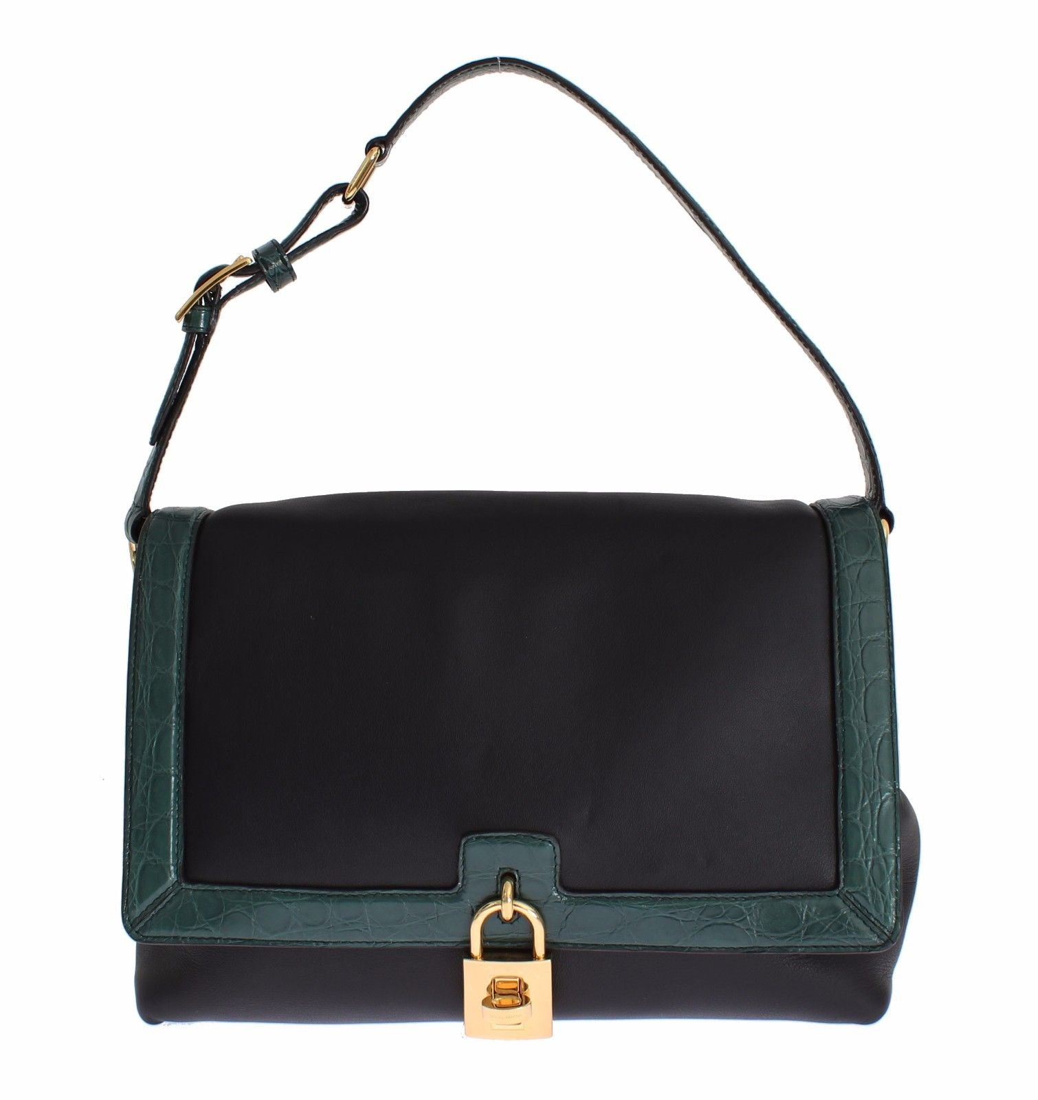 Dolce & Gabbana - MISS BONITA Green Caiman Leather Hand Shoulder Bag