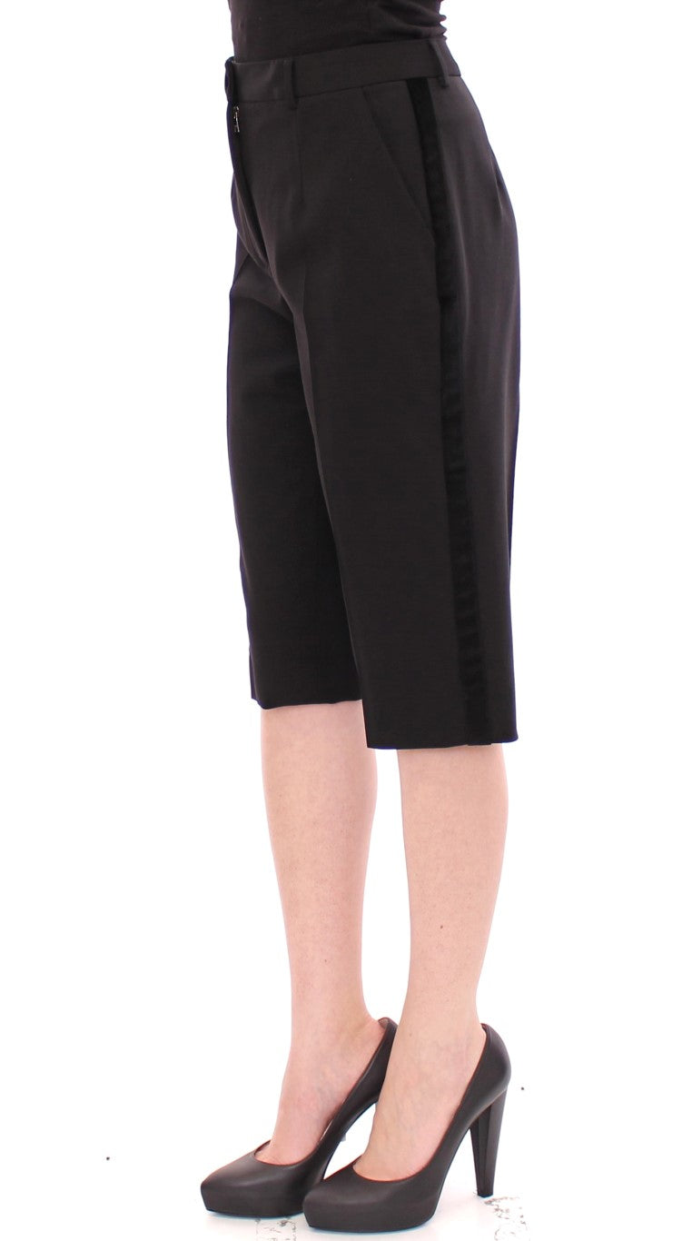 Dolce & Gabbana - Black wool shorts pants