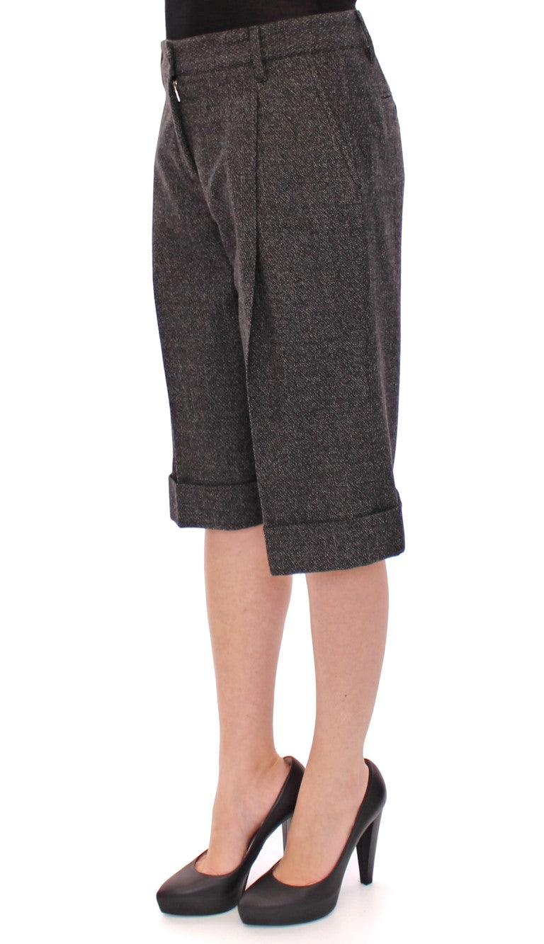 Dolce & Gabbana - Gray wool shorts pants