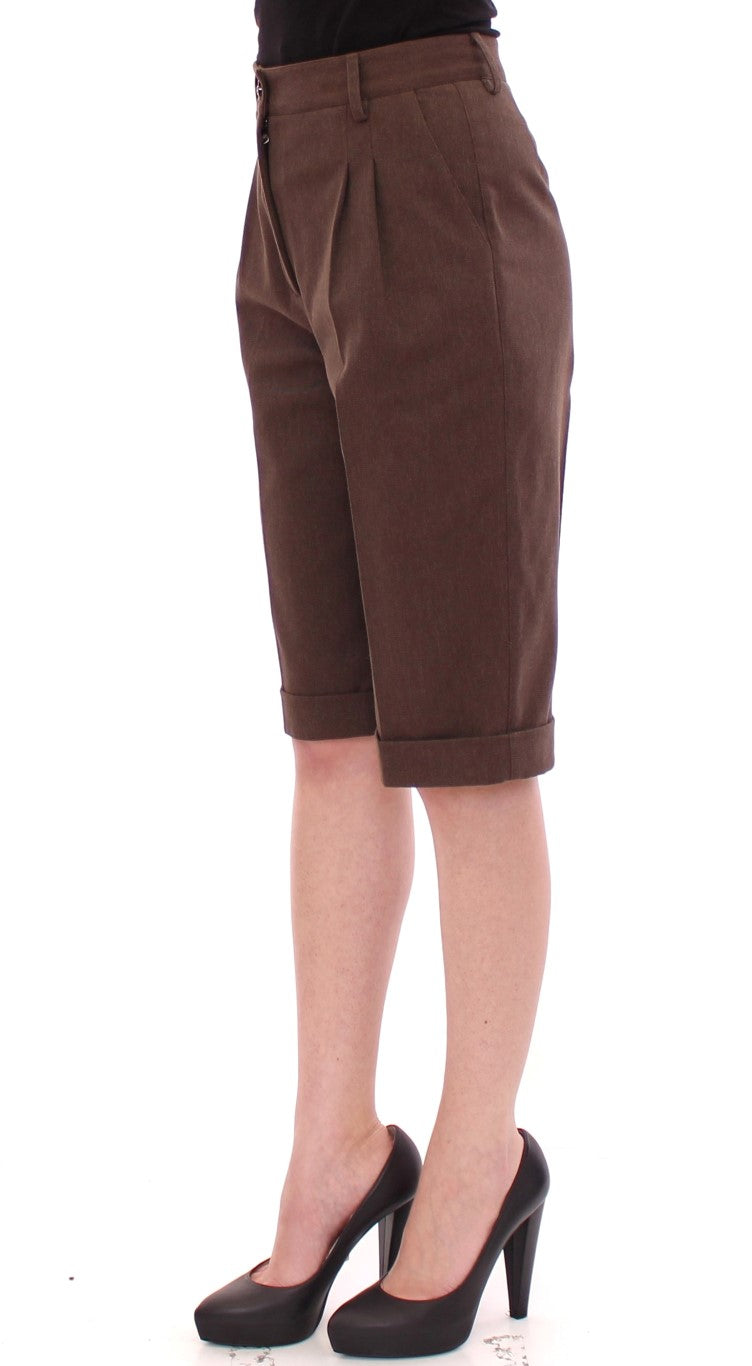Dolce & Gabbana - Brown Cotton Shorts Pants