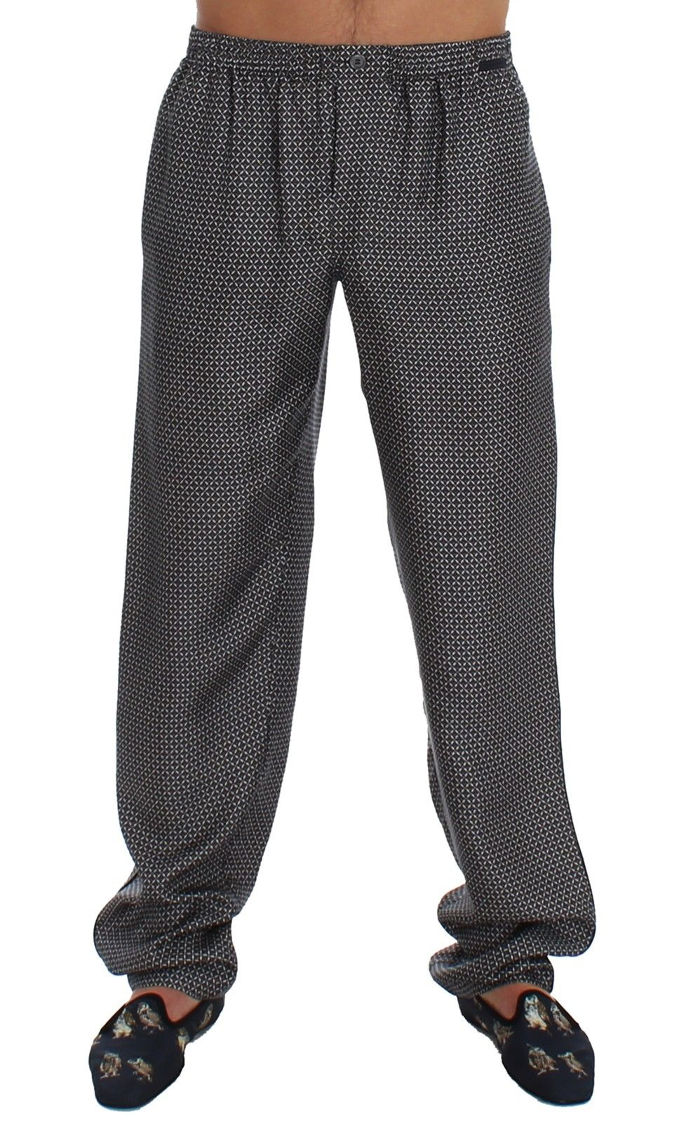 Dolce & Gabbana - Gray SILK Pajama Lounge Pants Trousers Sleepwear