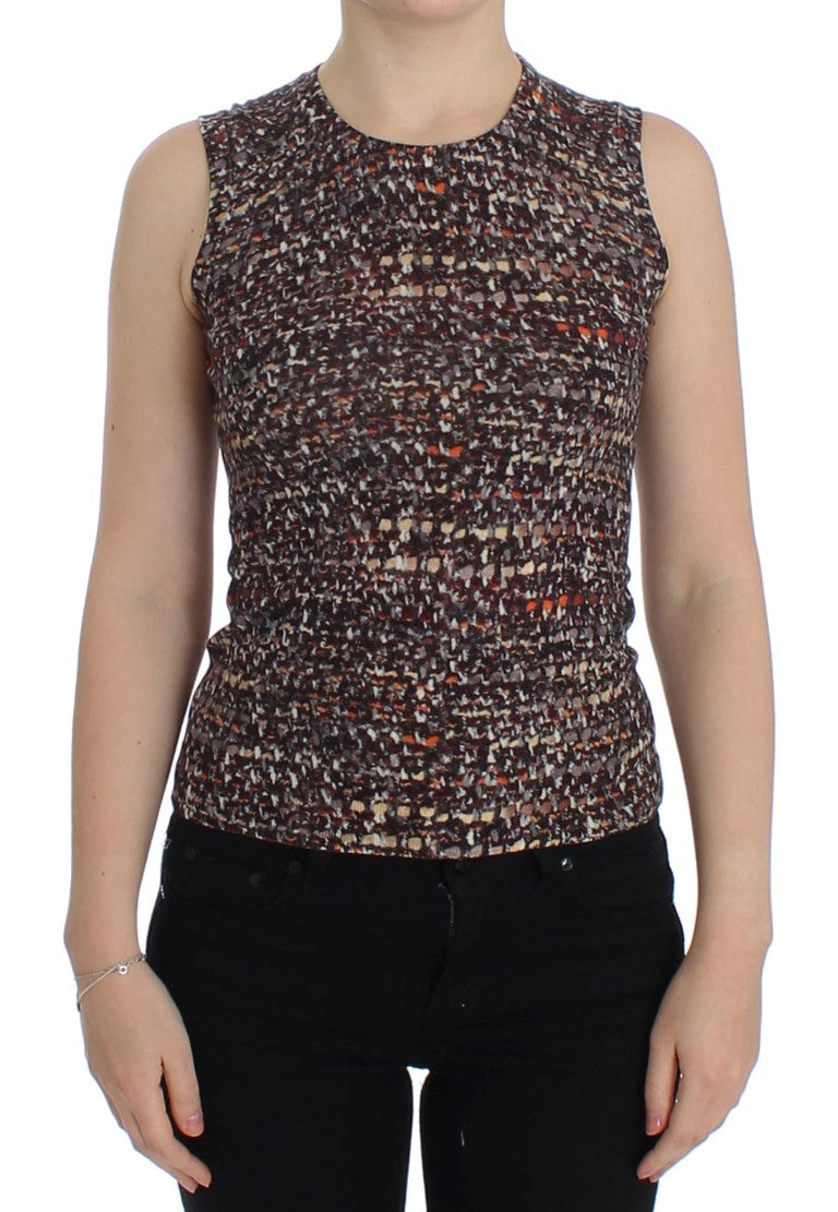 Dolce & Gabbana - Multicolor knitted wool tank top