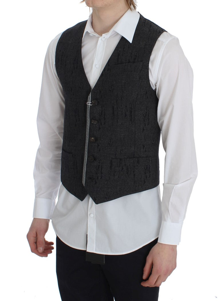 TOMMY HILFIGER - Gray Wool Waistcoat Vest Clothing Formal Vests