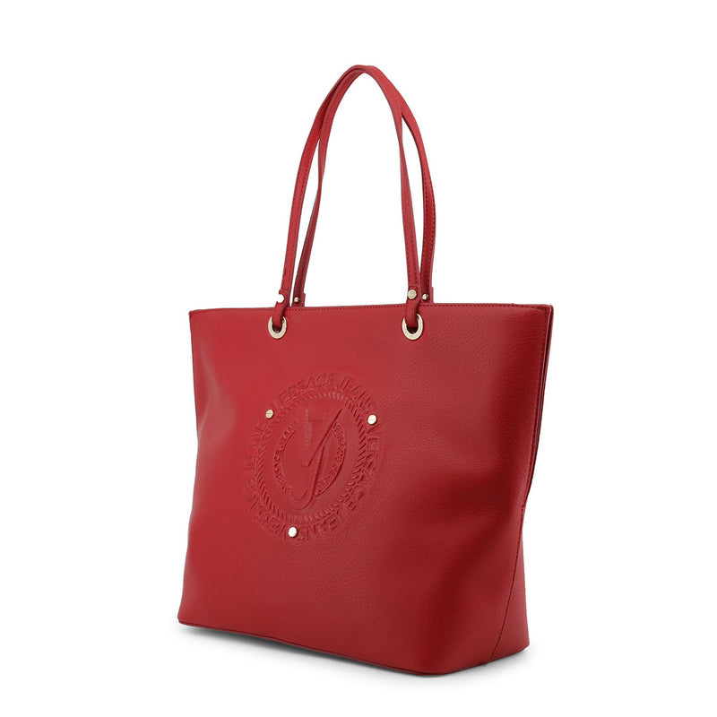 Versace Jeans - Shopping bag - Red with Circle Embossed Logo