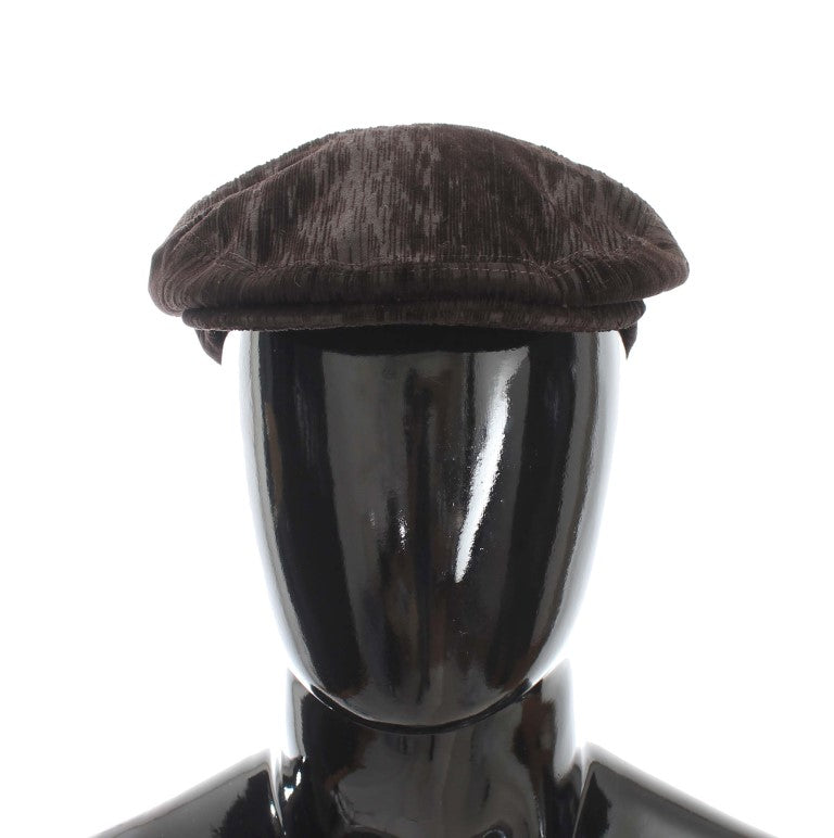 Dolce & Gabbana - Brown Cotton Newsboy Hat