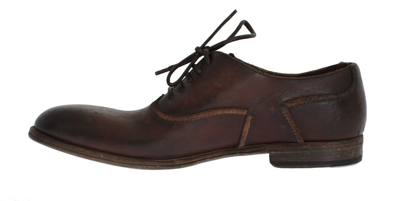 Dolce & Gabbana - Brown Leather Dress Formal Shoes