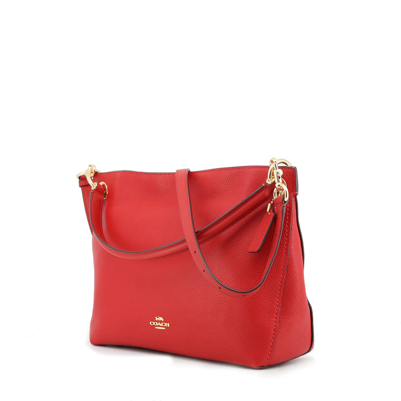 Coach - 24947 - Clarkson Hobo Red Leather Shoulder Bag