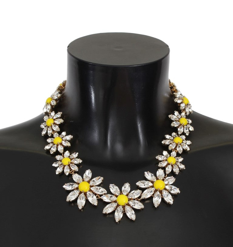 Dolce & Gabbana - Yellow Sunflower Crystal Statement Necklace