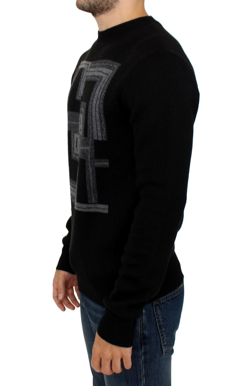 Karl Lagerfeld - Black knitted wool sweater