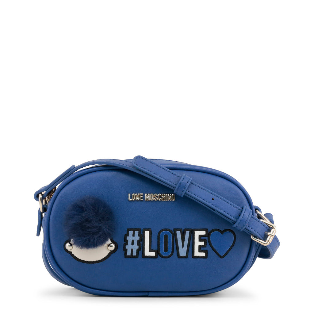 Love Moschino - Crossbody Bag - Blue Girly Pom Pom #Love