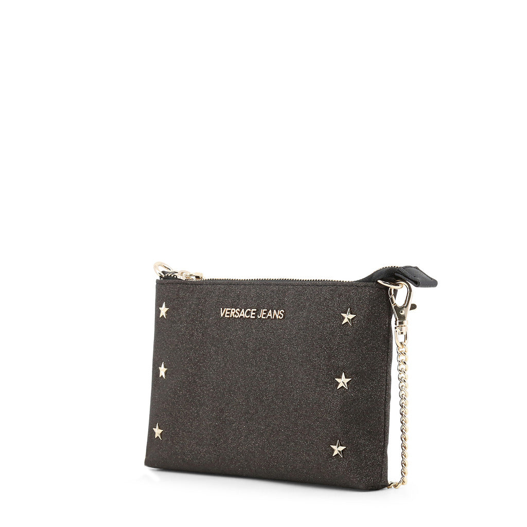 e36cbd2f76511 Versace Jeans - Clutch bag - Black Star Studded with Removable Chain Strap