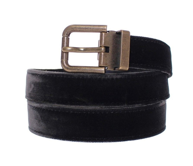 Dolce & Gabbana - Black Viscose Logo Belt