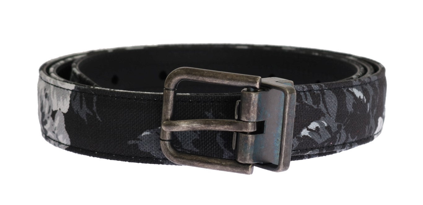 Dolce & Gabbana - Black Cayman Linen Leather Belt