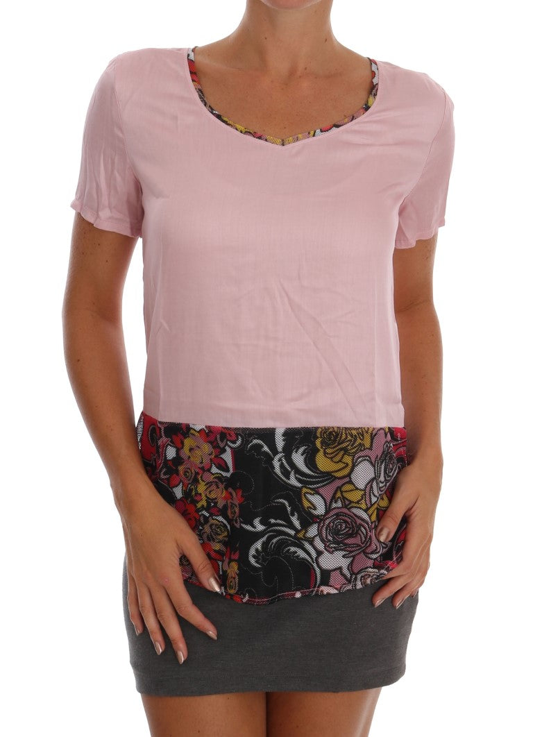 Versace Jeans - Pink Motive Stretch Blouse Top