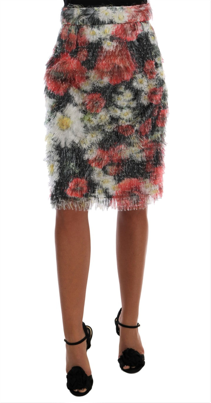 Dolce & Gabbana - Floral Patterned Pencil Straight Skirt