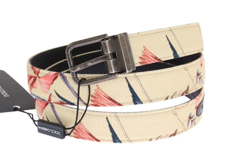 Dolce & Gabbana - Beige Denim Leather Belt
