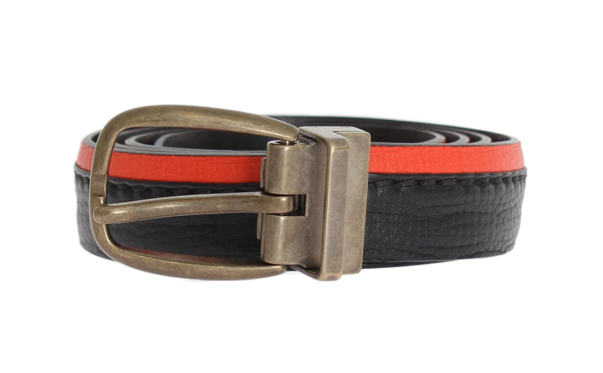 Dolce & Gabbana - Black Orange Leather Belt