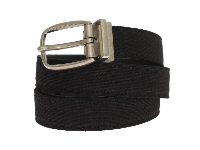 Dolce & Gabbana - Black Linen Leather Belt