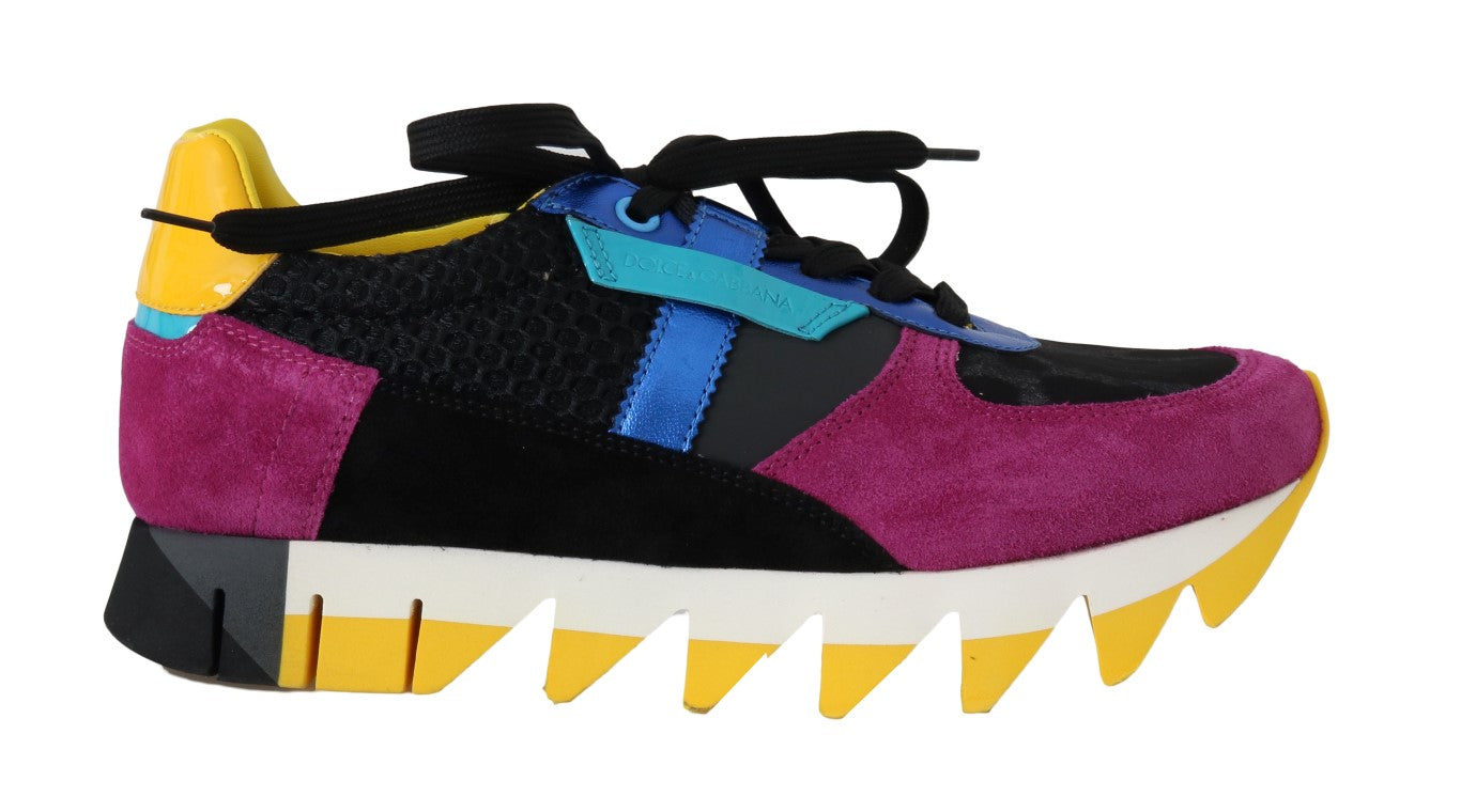 Dolce & Gabbana - Multicolor Leather Sneakers Shoes