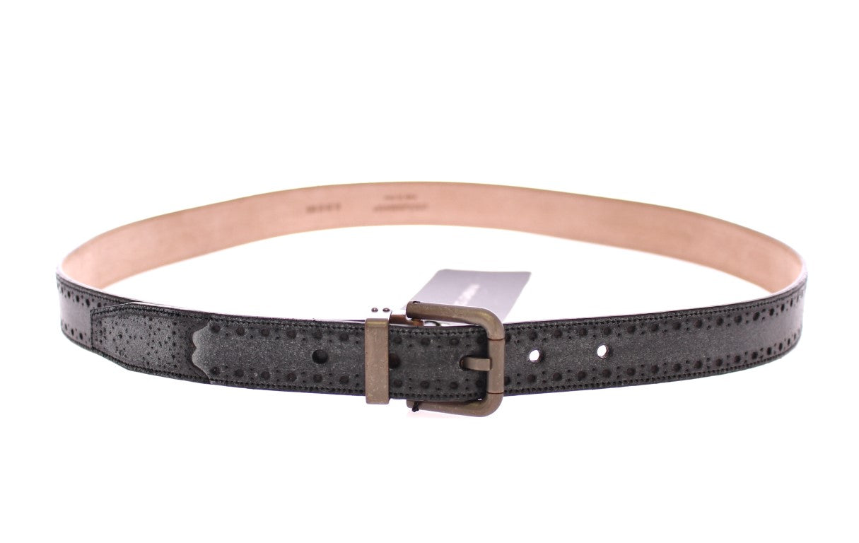 Dolce & Gabbana - Blue Leather Logo Belt