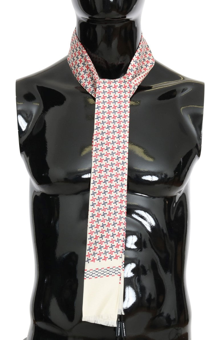 Dolce & Gabbana - Mens Multicolored Silk Skinny Scarf