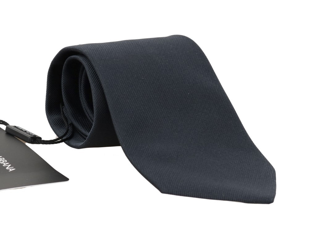 Dolce & Gabbana - Blue Silk Solid Wide Tie