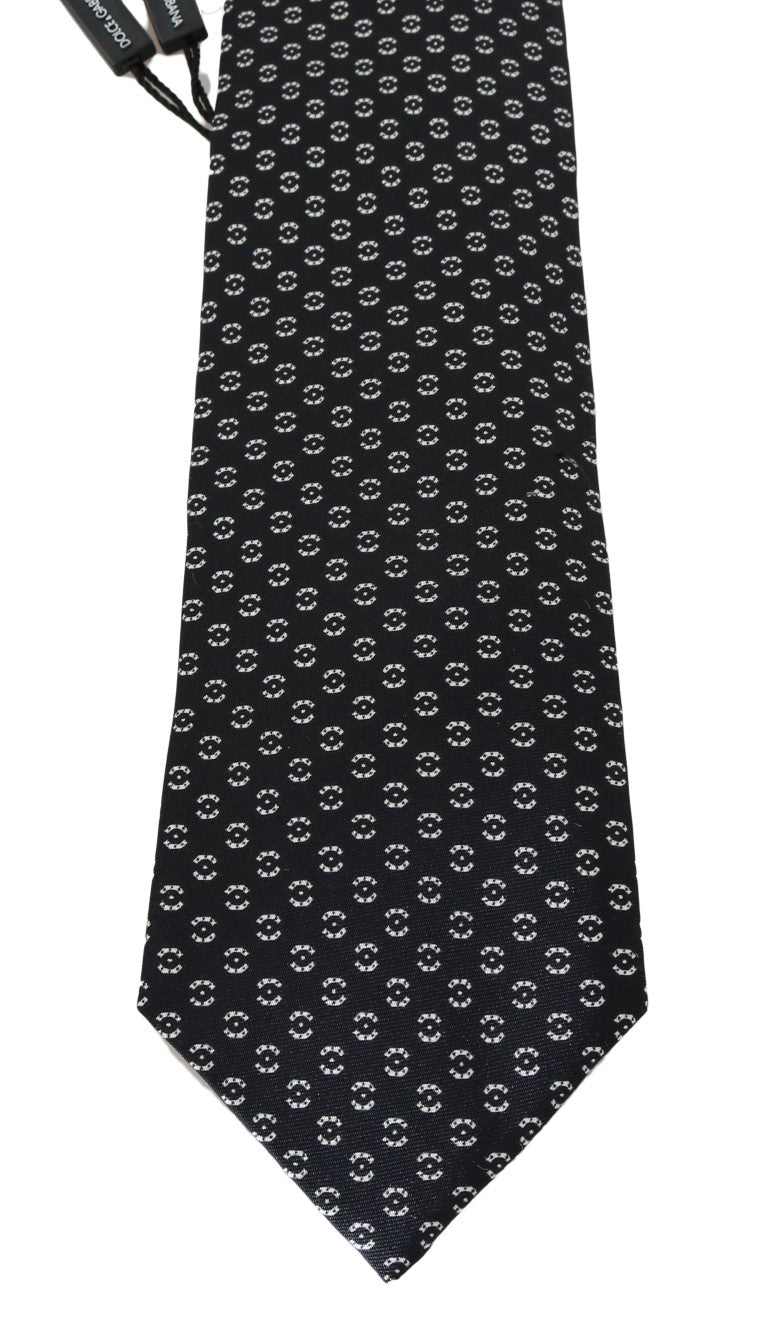 Dolce & Gabbana - Black Silk Patterned Tie