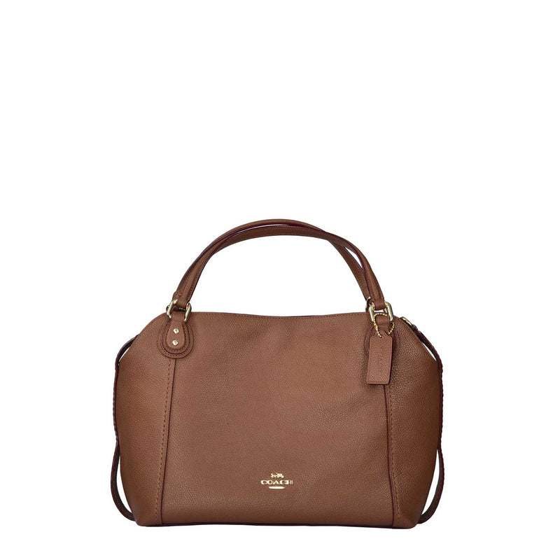 Coach - 57124 - Edie 28 Polished Pebble Brown Leather Handbag