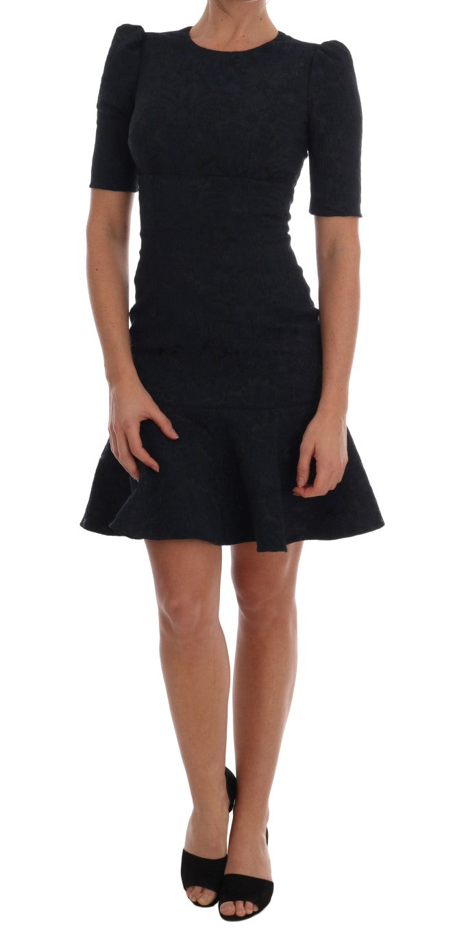 Dolce & Gabbana - Black Blue Flare Mini Dress