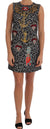 Dolce & Gabbana - Multicolor Leo Jaquard Crystal Embellished Dress