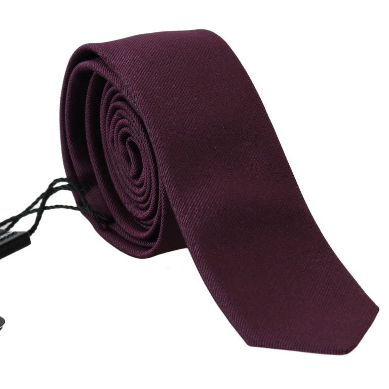 Dolce & Gabbana - Purple Silk Fashion Slim Tie