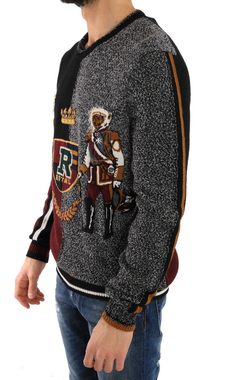 Dolce & Gabbana - Multicolor Knitted Cashmere Wool Sweater