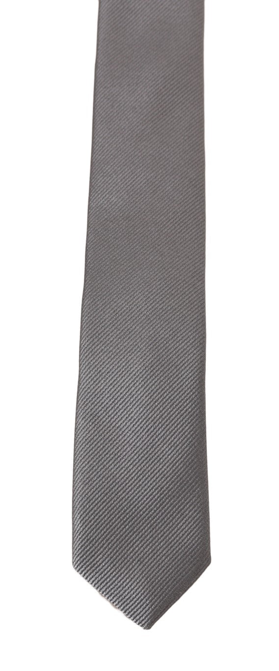 Dolce & Gabbana - Gray Silk Patterned Slim Tie
