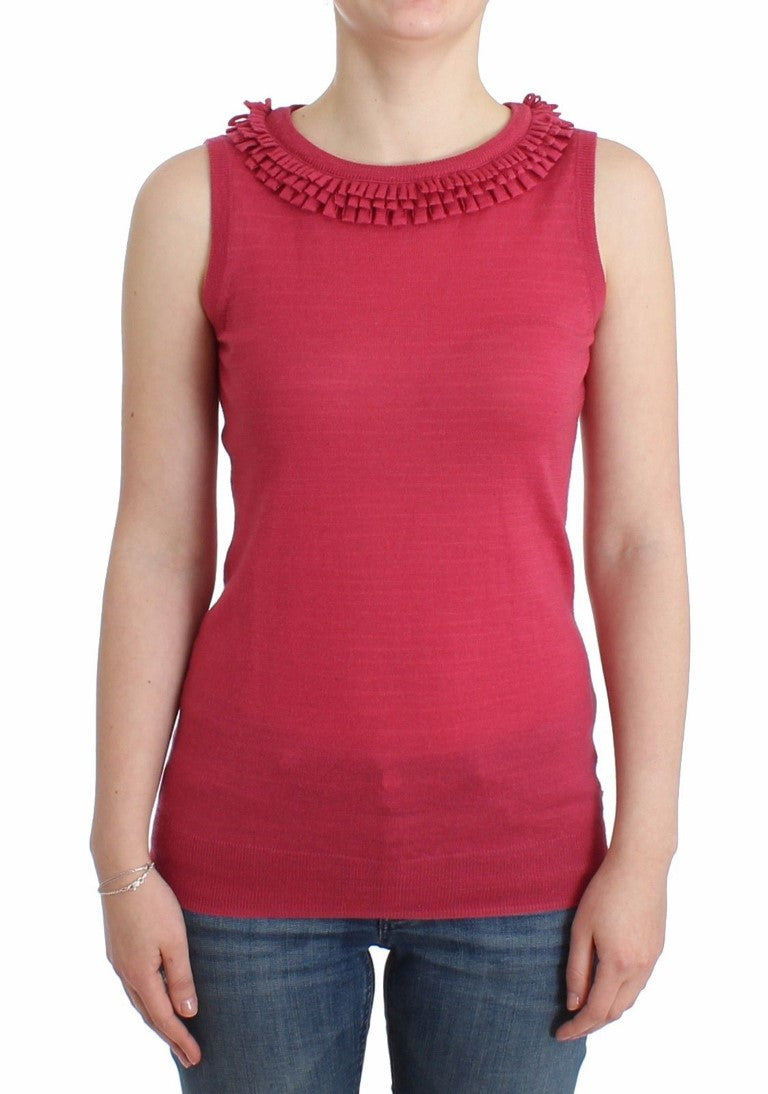 Galliano - Pink wool knit top