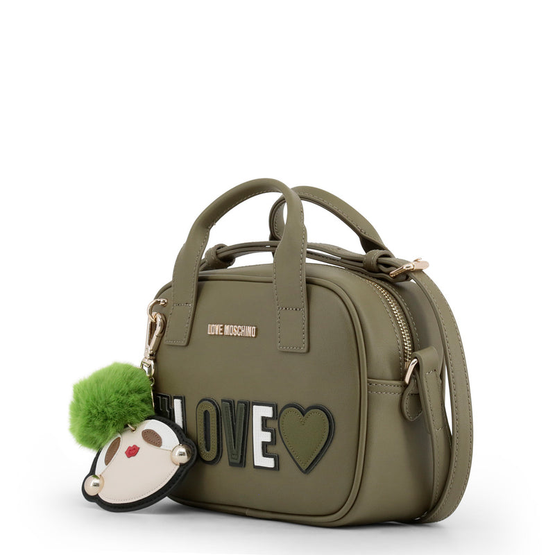 Love Moschino - Crossbody Bag - Green Girly Pom Pom #Love