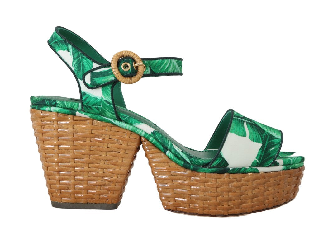 Green Banana Ankle Strap Silk Sandals Shoes