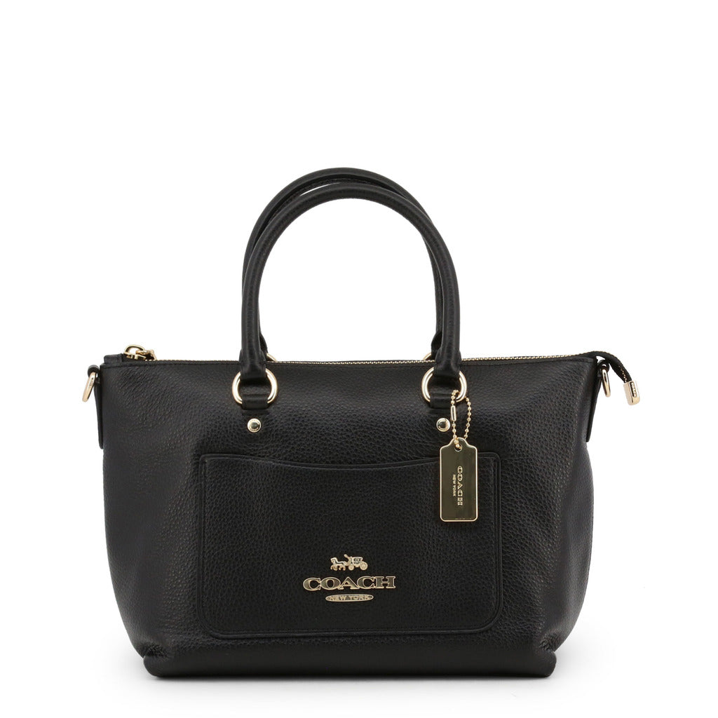 Coach - F31466 - Mini Emma Satchel Black Leather Handbag