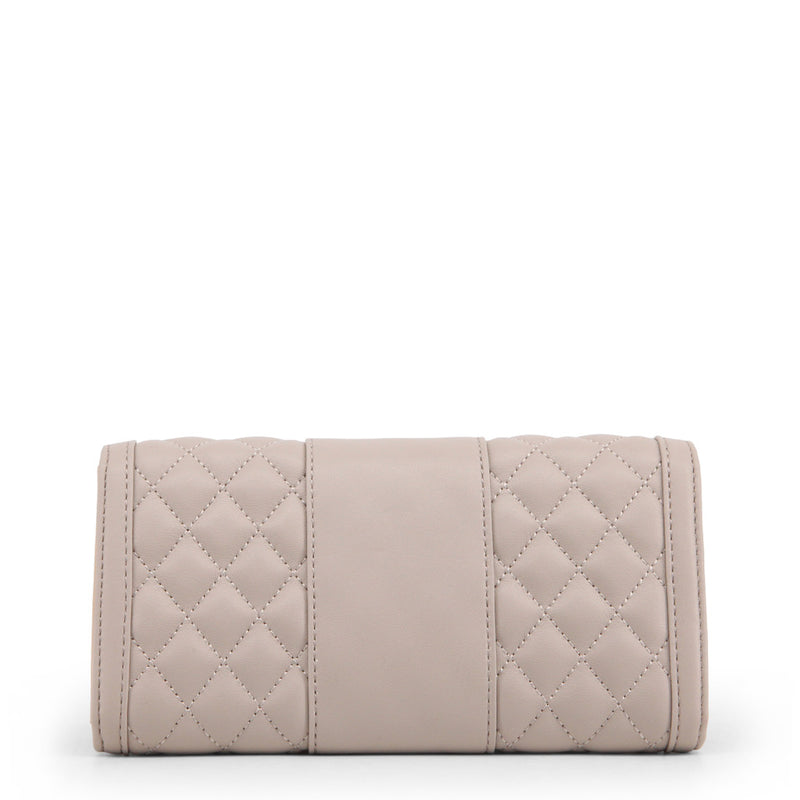 Love Moschino - Wallet - Quilted Cream with Gold Logo