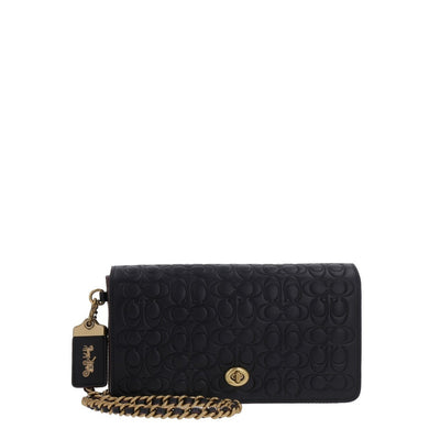 Coach - 28631 - Dinky In Signature Leather - Black Old Brass Crossbody Bag