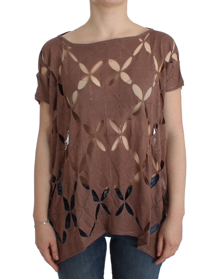 Galliano - Brown short sleeved knit