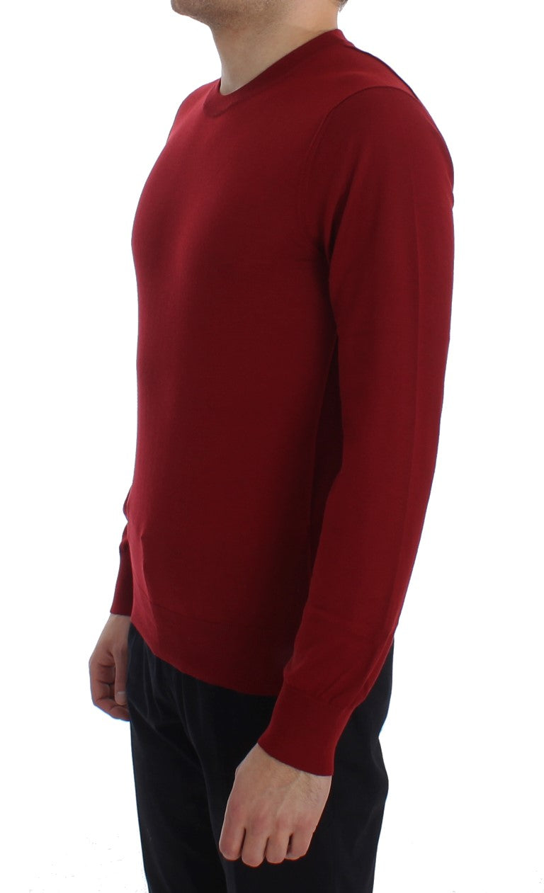 Dolce & Gabbana - Red Cashmere Crew-neck Pullover Sweater
