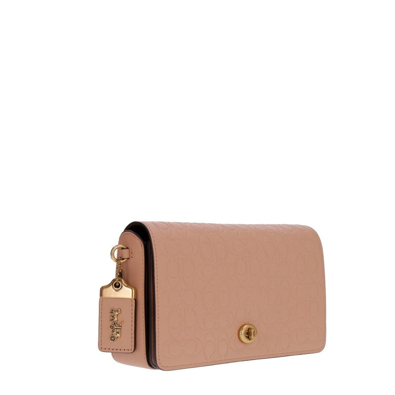 Coach - 28631 - Dinky In Signature Leather - Beechwood Old Brass Crossbody Bag