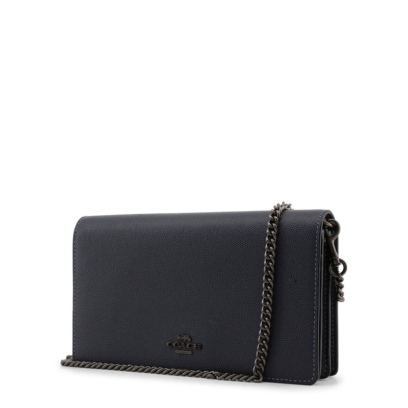 Coach - 68031 - Navy Leather Chain Clutch Bag