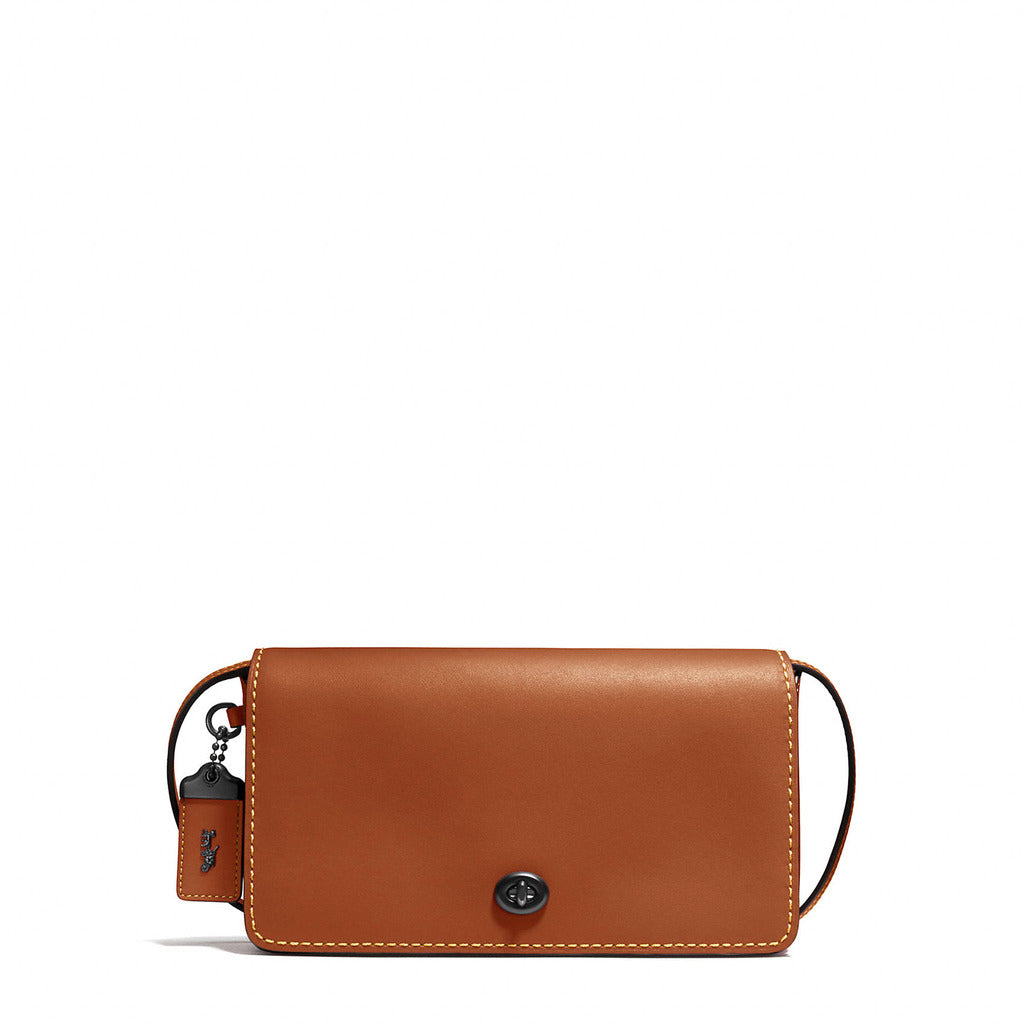 Coach - 37296 - Dinky Crossbody Bag in Tan Leather