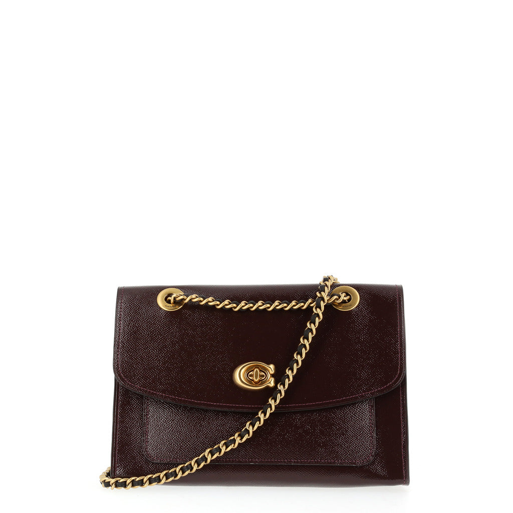 Coach - 31636 Parker Shoulder Bag in Patent Crossgrain Leather
