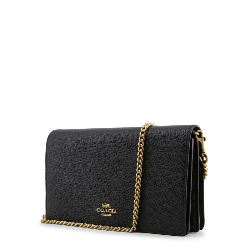 Coach - 68031 - Black Leather Chain Clutch Bag
